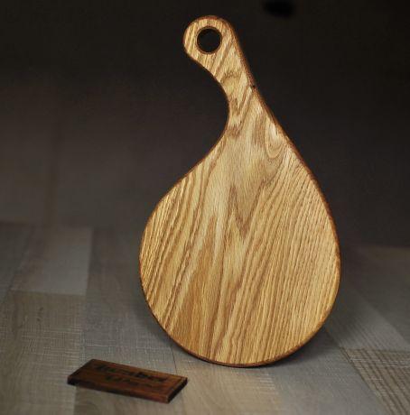 Деревянная доска для подачи бургера.  арт. 671